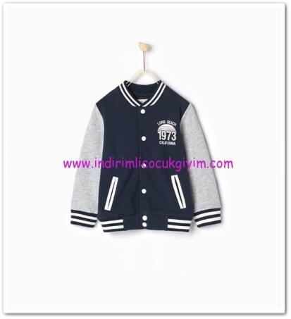Zara boy child navy blue baseball sweatshirt-50 TL