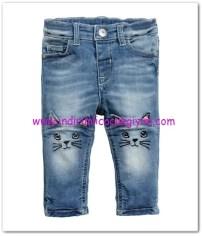 hm-kız bebek işlemeli kot pantolon-50 TL