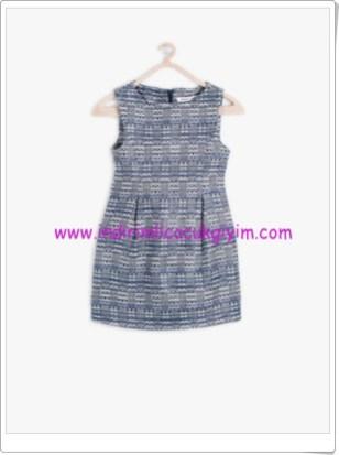 Koton kız çocuk lacivert desenli elbise-33 TL