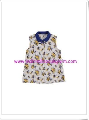 LCW kız çocuk ekru çiçekli gömlek-25 TL