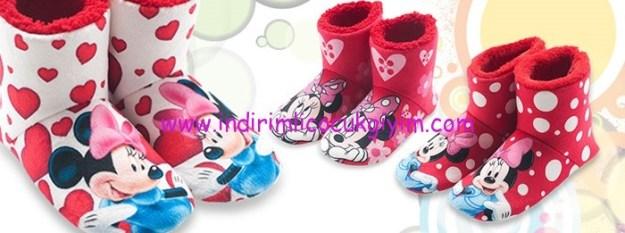 Twigy kırmızı Minnie Mouse Çocuk Pandufları