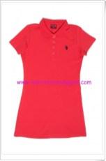 U.S Polo kırmızı polo yaka kız çocuk elbise-30 TL
