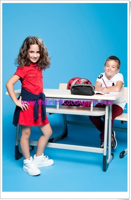 U.S Polo kız çocuk kırmızı elbise-40 TL