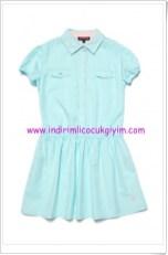 U.S Polo kız çocuk mint elbise-65 TL