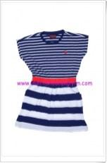 U.S Polo lacivert çizgili kız çocuk elbise-20 TL