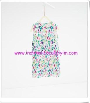 Zara kız çocuk desenli elbise-70 TL