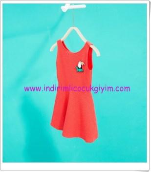 Zara kız çocuk kırmızı kolsuz elbise-50 TL