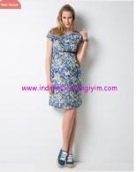 Çiçek baskılı hamile elbisesi-180 TL