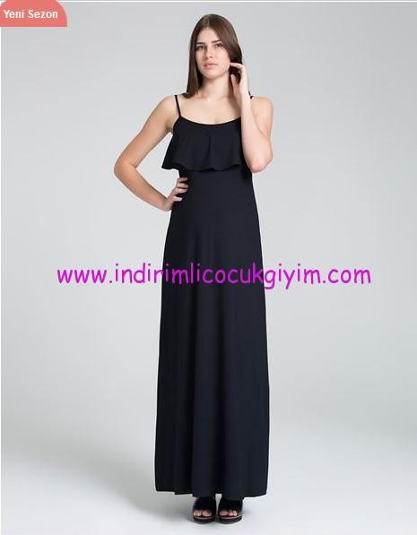 İnce askılı uzun hamile elbisesi-120 TL