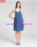 Deri askılı hamile elbisesi-140 TL