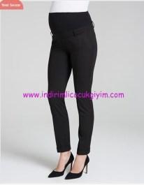 Duble paça klasik siyah hamile pantolonu-165 TL