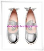 HM kız çocuk gümüş lastik şeritli babet-40 TL