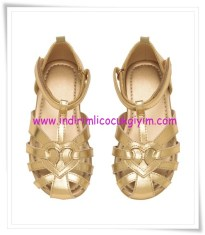 HM kız çocuk gold metalik sandalet-40 TL