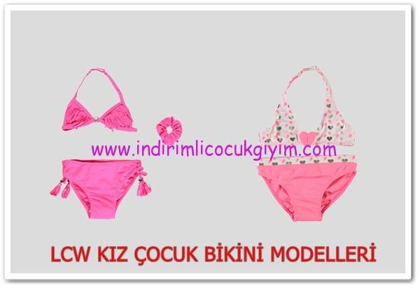 LCW kız çocuk pembe bikini modelleri