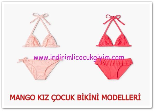 Mango 2016 yeni sezon kız çocuk bikinileri