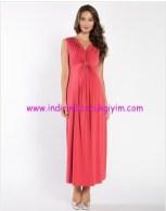 Mercan abiye hamile elbisesi-140 TL