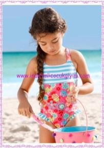 Bonprix çiçekli kız çocuk mayo-40 TL