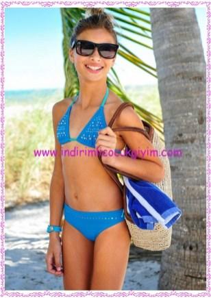 Bonprix mavi kız çocuk mayo-40 TL