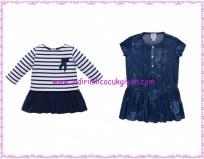 Chicco lacivert kız çocuk elbiseleri