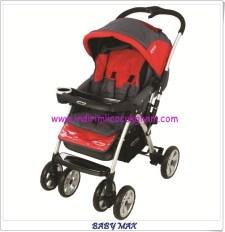 Baby Max SH289 polo gri-kırmızı bebek arabası