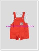 LC Waikiki kız bebek kırmızı salopet takım-40 TL