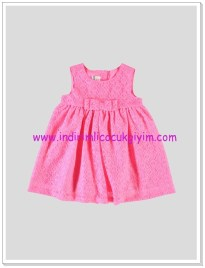 LCW neon pembe kız bebek elbise-30 TL