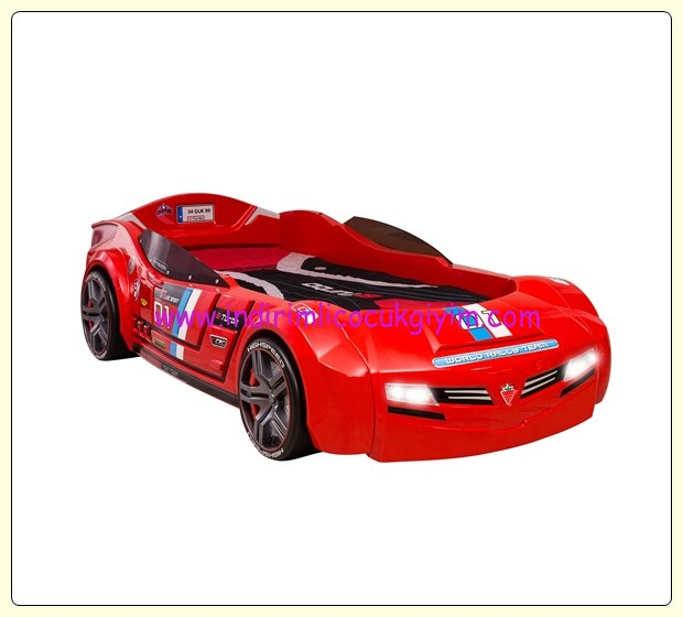 Çilek Mobilya Biturbo kırmızı araba karyola