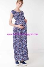 DeFacto uzun desenli hamile elbisesi