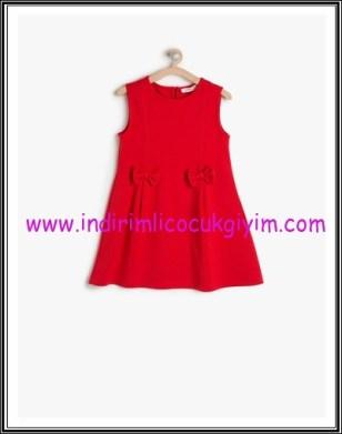 Koton kız çocuk kırmızı fiyonklu elbise