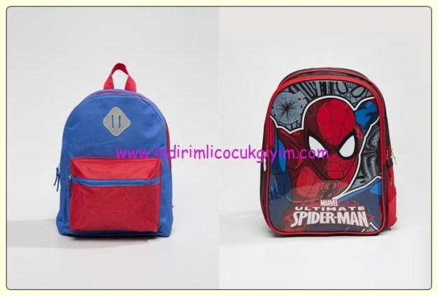 LCW erkek çocuk çizgi karakterli okul çantaları