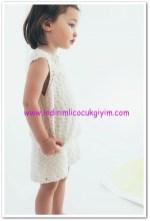 zara kız bebek ajurlu kolsuz triko