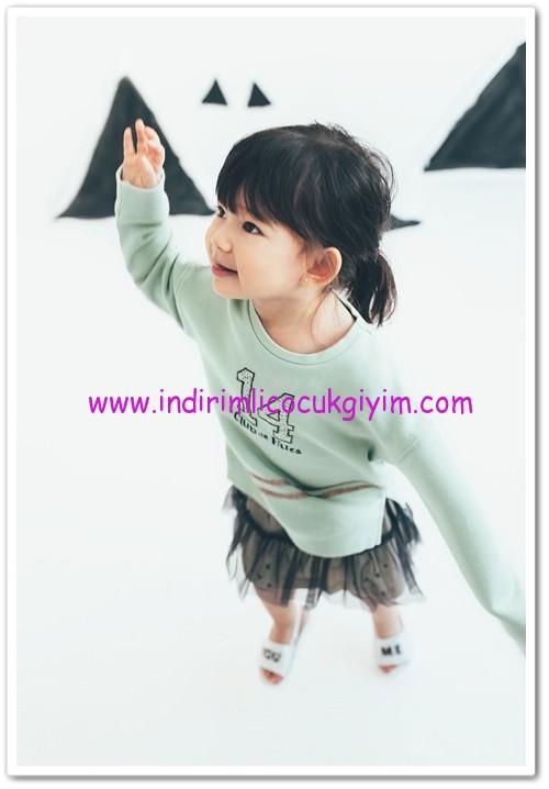 zara parlak baskılı kız bebek sweat