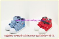 Koton bağcıksız kumaş erkek çocuk ayakkabıları