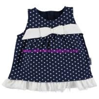 civil lacivert puantiyeli kız bebek elbise