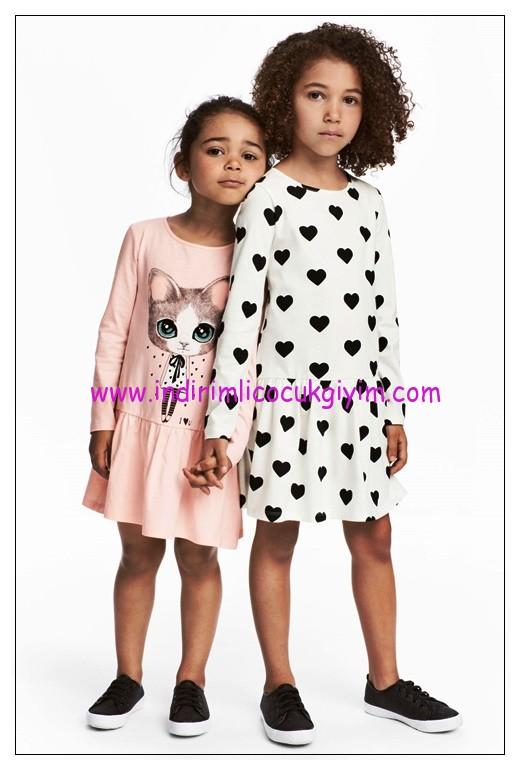 hm kız çocuk 2 li jarse elbise