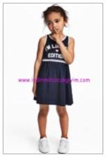 hm lacivert kolsuz kız çocuk spor elbise