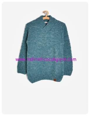 koton erkek cocuk mavi yuksek yaka kazak-50 TL