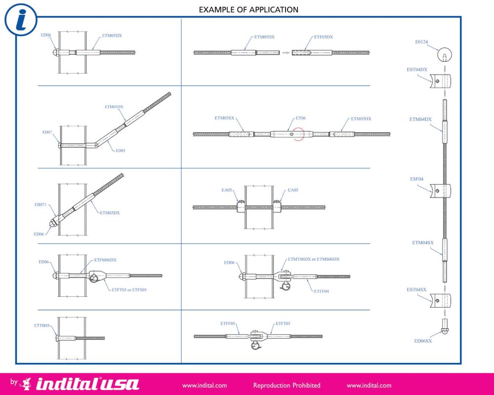 medium resolution of cable railing application diagram