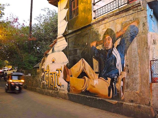दीवार के अमिताभ बच्च्चन - बांद्रा की एक दीवार पर