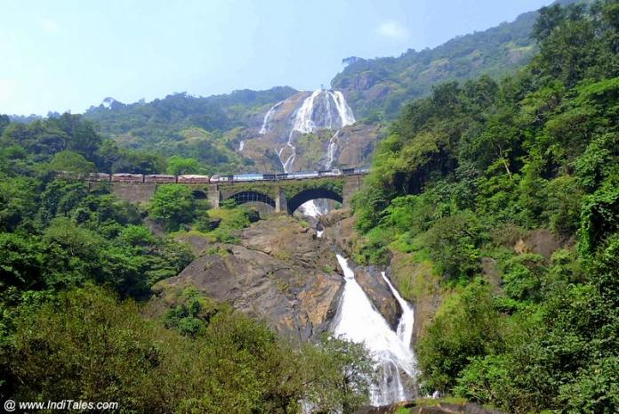 गोवा का दूधसागर झरना