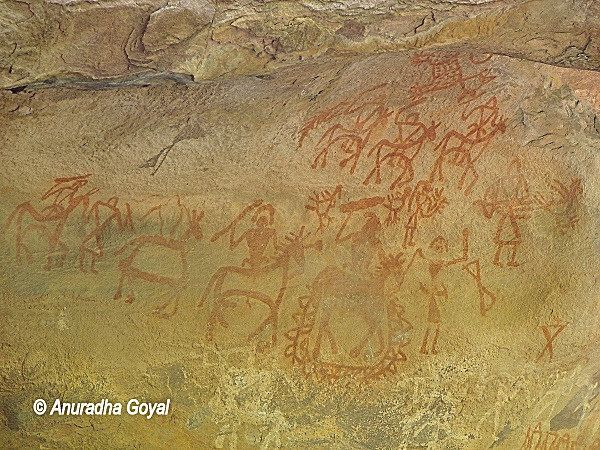 Ancient rock paintings of Bhimbetka
