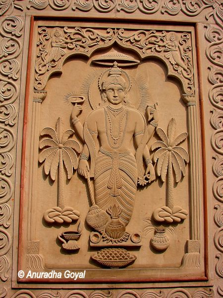 Vishnu at Yogmaya Temple