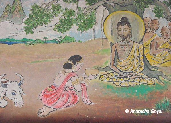 सुजाता के बुद्ध को खीर दीना - सुजातागढ़, बोधगया