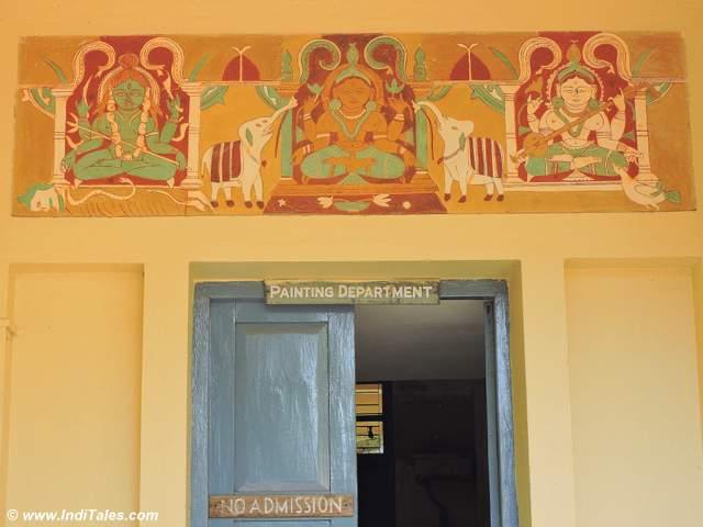 Entrance to Shantiniketan's painting department