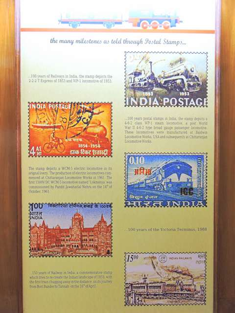 भारतीय रेल को समर्पित डाक टिकट