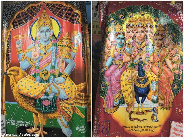 श्री लंका के बौद्ध मंदिरों में भगवान् विष्णु एवं कार्तिकेय