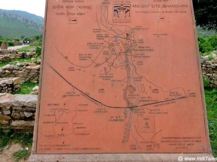 भानगढ़ दुर्ग का मानचित्र