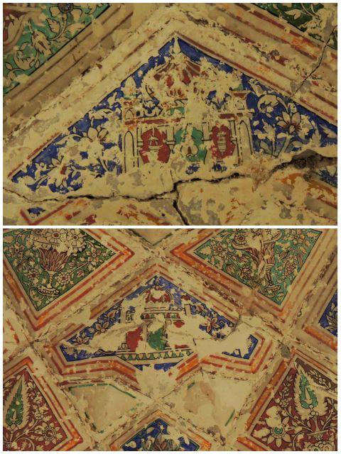 हमाम पर बना ताज महल का चित्र