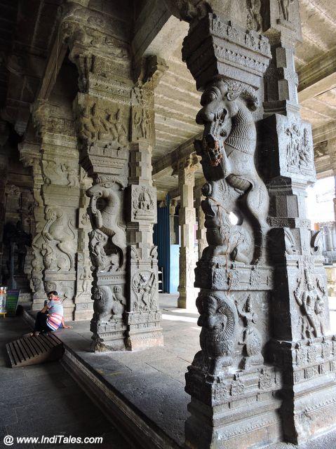 पत्थरों में घडी चतुरंग सेना - एकम्बरेश्वर मंदिर कांचीपुरम