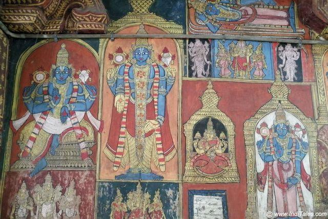 वरदराज पेरूमल मंदिर के भित्तिचित्र